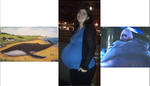 Two days before the birth of H... see the resemblance?